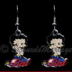 Betty Boop, boucles d'oreilles Flirt
