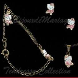 Kitty, parure bijoux, ballerine