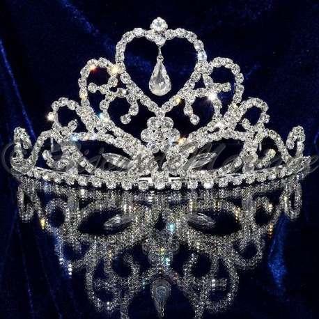 Diademe mariage FLIRT, cristal, structure ton argent