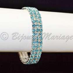 Bracelet 3 rangs, Aqua