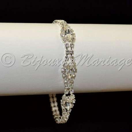 Bracelet mariage Larme, ton argent