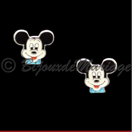 boucle d'oreille homme mickey
