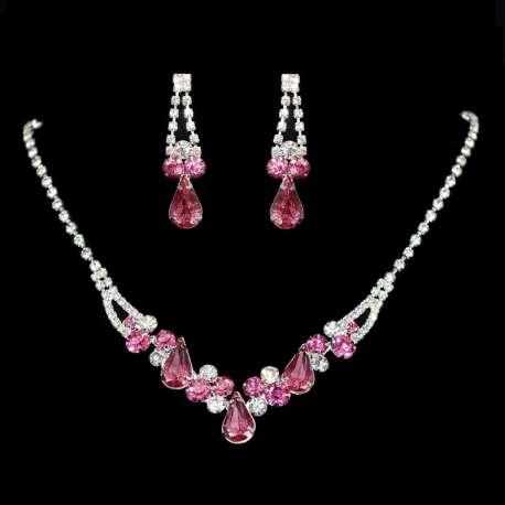 Parure de bijoux mariage rose, NASHA