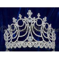 Diademe Miss SIROCCO, cristal, structure ton argent