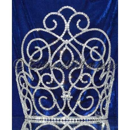 Diademe Miss ALIZÉ, cristal, structure ton argent
